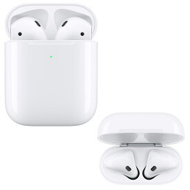 Bluetoothイヤホン エアポッド Apple アップル AirPods with Wireless Charging Case AAC対応 完全ワイヤレスイヤホン 左右分離型 ワイヤレス充電対応 ホワイト MRXJ2J/A ◆宅