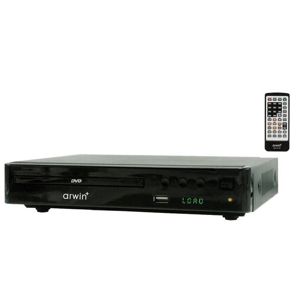 ◇ DVDプレーヤー リージョンフリー arwin アーウィン 据え置き型 コンパクト設計 CPRM リモコン付 ブラック ASD-210K ◆宅