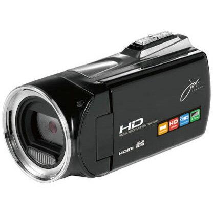 ◇ FullHDビデオカメラ joyeux ジョワイユ 500万画素 (静止画1200万画素) SDHC対応 miniHDMI出力 バッテリー式 ブラック JOY5162BK ◆宅