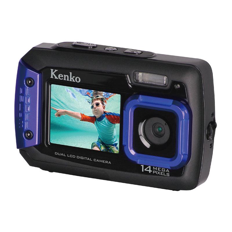 防水・耐衝撃デュアルモニター搭載デジタルカメラ Kenko ケンコー・トキナー IPX8相当防水 1.5m耐落下衝撃 1400万画素 乾電池式 DSC1480DW ◆宅