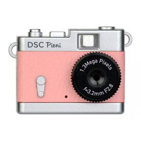 トイカメラ クラシックカメラ風 ピエニ PIENI Kenko ケンコー・トキナー 131万画素 microSDHC(4GB-16GB対応) USB充電式 コーラルピンク DSC-PIENI-CP ◆宅