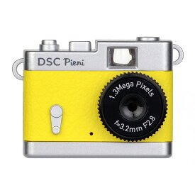 トイカメラ クラシックカメラ風 ピエニ PIENI Kenko ケンコー・トキナー 131万画素 microSDHC(4GB-16GB対応) USB充電式 レモンイエロー DSC-PIENI-LY ◆宅