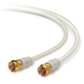 アンテナケーブル テレビ接続用同軸ケーブル 1m DXアンテナ 4K / 8K対応 F形プラグ - F形プラグ 4C 1.0m ライトグレー 4JW1FFS(B) ◆メ