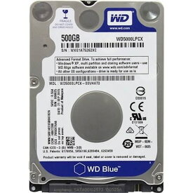 500GB 2.5インチ内蔵用HDD WesternDigital ウェスタンデジタル WD Blue SATA6.0Gbs 5400rpm 16MB 7mm厚 バルク WD5000LPCX ◆メ