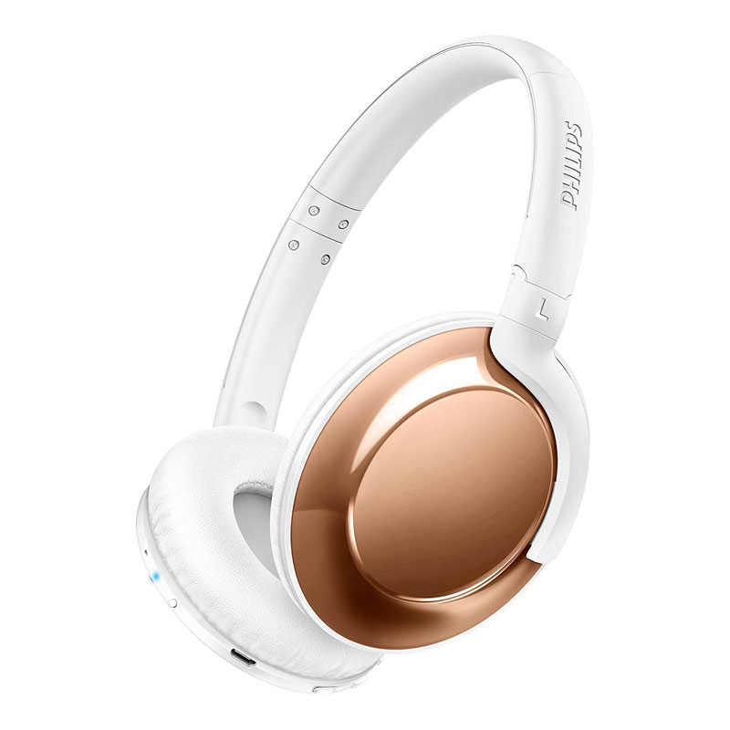 高音質密閉型ワイヤレスヘッドホン Bluetooth PHILIPS フィリップス 連続再生時間:13時間 ローズゴールド SHB4805RG ◆宅