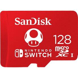 128GB microSDXCカード for Nintendo Switch マイクロSD SanDisk サンディスク UHS-I U3 R:100MB/s W:90MB/s 海外リテール SDSQXAO-128G-GNCZN ◆メ
