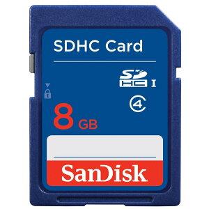 ◇【8GB】SanDisk/サンディスクSDHCカードCLASS4海外リテールSDSDB-008G-B35◆メ