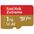 1TB microSDXCカード マイクロSD SanDisk サンディスク Extreme UHS-I U3 V30 A2 R:160MB/s W:90MB/s 1.0TB 海外リテール SDSQXA1-1T00-GN6MN ◆宅
