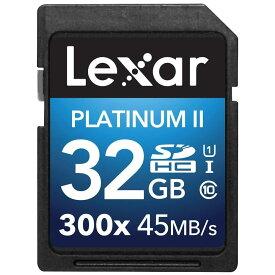 32GB SDHCカード SDカード Lexar レキサー 300x Class10 UHS-1 U1 R:45MB/s W:20MB/s 海外リテール LSD32GBBANZ300 ◆メ