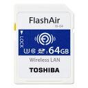 最大500円OFFクーポン東西対抗ショップバトル 64GB SDXCカード SDカード TOSHIBA 東芝 第4世代FlashAir W-04 無線LAN搭載 UHS-1 U3 R:90MB/s W:70MB/s 海外リテール THN-NW04W0640E6 ◆メ