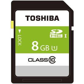 8GB SDHCカード SDカード TOSHIBA 東芝 CLASS10 UHS-1 R:48MB/s ミニケース入 バルク SDBR48N08G-BLK ◆メ