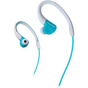 スポーツイヤホン 耳掛け型 防滴仕様 Pioneer パイオニア ダイナミック密閉型 アクア SE-E3-GR ◆宅