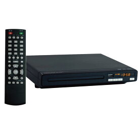DVDプレーヤー 据置型 再生専用 Vegetable GD商事 CD-USB録音 音楽/静止画対応 コンパクト設計 リモコン付 ブラック GD-SDP1 ◆宅