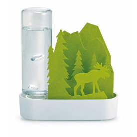 自然気化式ECO加湿器 うるおいちいさな森 セキスイ 積水樹脂 ペーパー加湿器 電気代0円 エルク グリーン ULT-EL-GR ◆宅