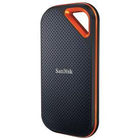 2TB 外付SSD ポータブルSSD USB3.2 Gen2x2 SanDisk サンディスク Extreme Pro R/W:2000MB/s 防滴 耐振 耐衝撃 USB-A/C両対応 海外リテール SDSSDE81-2T00-G25 ◆宅