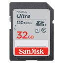 32GB SDHCカード SDカード SanDisk サンディスク Ultra UHS-I U1 R:120MB/s 海外リテール SDSDUN4-032G-GN6IN ◆メ
