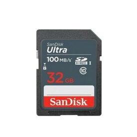 32GB SDHCカード SDカード SanDisk サンディスク Ultra UHS-I U1 R:100MB/s 海外リテール SDSDUNR-032G-GN3IN ◆メ
