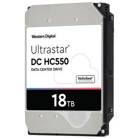 18TB HDD 内蔵型 ハードディスク 3.5インチ WesternDigital HGST Ultrastar DC HC550 データセンター向け SATA 6Gbps 7200rpm キャッシュ512MB バルク WUH721818ALE6L4 ◆宅
