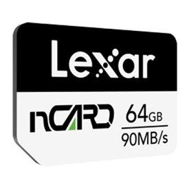 64GB NM Card ナノメモリーカード nCARD for Huawei レキサー R:90MB/s W:70MB/s 海外リテール LNCARD064G-BNNNG ◆メ