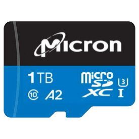 1TB microSDXCカード マイクロSD Micron マイクロン純正 高耐久 Industrial QLC i300 Class10 UHS-1 U3 A2 R:100MB/s W:39MB/s バルク MTSD1T0AKC7MS-1WT ◆宅