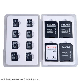 SD / microSD カードケース メモリーカード収納ケース miwakura 美和蔵 最大12枚収納(SDカード4枚+microSDカード8枚) クッショントレー MMC-SD4M8 ◆メ