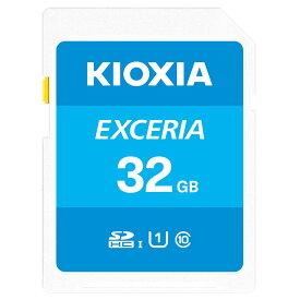 32GB SDHCカード SDカード KIOXIA キオクシア 旧東芝メモリ EXCERIA Class10 UHS-I U1 R:100MB/s 海外リテール LNEX1L032GG4 ◆メ