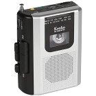 ラジオカセットレコーダー ポータブルラジカセ Kenko ケンコー・トキナー カセットテープ再生 ワイドFM対応 録音機能 2電源(乾電池/DC) KR-008AWFRC ◆宅