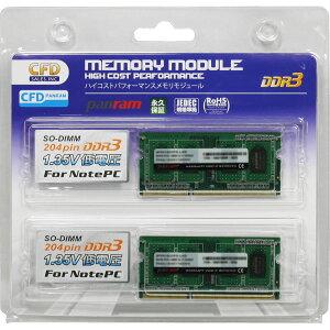 8GB2枚組DDR3ノート用メモリCFDPanramDDR3-1600204pinSO-DIMM低電圧1.35V8GBx2(計16GB)動作確認済セットW3N1600PS-L8G◆メ