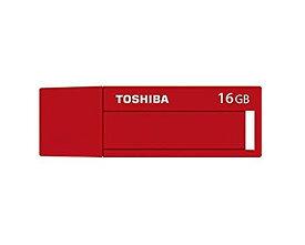 16GB USBメモリー USB3.0 TOSHIBA 東芝 TransMemory TNU-Cシリーズ キャップ式 ネームラベル付 日本語パッケージ レッド TNU-C016GR ◆メ