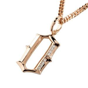 メンズジュエリー 大きい 数字 ナンバー 0 ラッキーナンバー ペンダント ペンダントトップ ピンクゴールドk18 18金 18k ダイヤモンド ネックレス シンプル 男性用 men's ネックレスチェーン無し