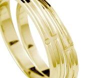[送料無料]クロスペアリング結婚指輪マリッジリングイエローゴールドK18結婚記念リングブライダルリングウェディングリングブライダルジュエリー2本セット【楽ギフ_包装】0824楽天カード分割【コンビニ受取対応商品】
