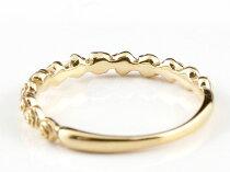 [送料無料]バラ薔薇リングシンプルピンキーリング指輪イエローゴールドk18華奢リング重ね付け指輪細め細身18金アンティークレディース【楽ギフ_包装】