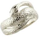 [送料無料]指輪 スネークリング へび プラチナ 蛇リング 巳 へび ヘビ ピンキーリング アニマルジュエリー 干支 金運 …