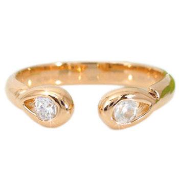 [送料無料]トゥリング 足の指輪 ピンクゴールドk18 k18PG 4月の誕生石ダイヤモンド足指リング トウリング フリーサイズリング ピンキーとしてもOK18k 18金【楽ギフ_包装】【コンビニ受取対応商品】
