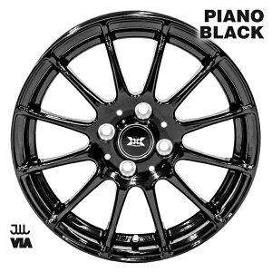 ホイール 14インチ SWALLOW ピアノブラック 14インチ 5.5J インセット+38 4H P.C.D.100 アルミホイール 単品1本ヴィッツ タンク ルーミー ノート
