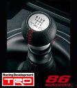 【 TOYOTA 86 (ハチロク) DBA-ZN6 / FA20用 】 TRD 本革巻きシフトノブ MT車用 ( 品番:MS204-18001 ) TRD P...