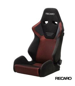 RECARO SR-6 GK100S (セミバケット スポーツシート) カムイ×グラスメッシュ生地 ブラック×レッド 品番: 81-091.00.967-0 (レカロ正規品)