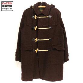 古着 80s ダッフルコート CONVOY CHECK イタリア製 ★ Lサイズ 42 プレゼント ギフト 衣装