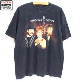 古着 90s ブルックスアンドダン×レーバ ロックTシャツ★ Lサイズ ブラック プレゼント ギフト 衣装
