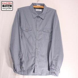 古着 Calvin Klein チェックシャツ★XLサイズ ブルー プレゼント ギフト