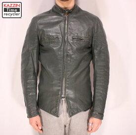 古着 70s ブルックス シングルライダースジャケット ★ XSサイズ グリーン