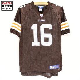 古着 ボーイズ NFL ブラウンズ CRIBBS ゲームジャージ フットボールT ★ XLサイズ ブラウン