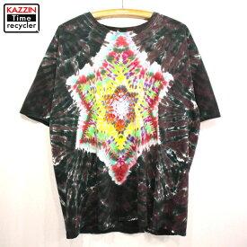 2000s GILDAN 総柄 タイダイTシャツ 古着 ★ XLサイズ