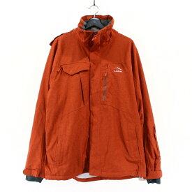 古着 L.L.Bean キャラバセット スキー ジャケット TEK02 ハードシェル プリマロフト アウトドア 古着 ★ Lサイズ ブラウン