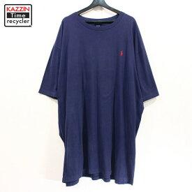 古着 90s RALPH LAUREN 半袖 ビッグサイズ Tシャツ ★ XXXLサイズ ネイビー
