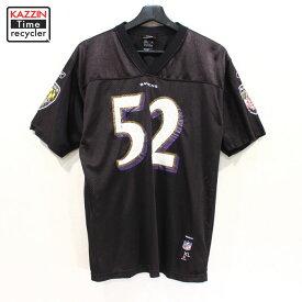 2000s NFL ボルチモア・レイブンズ レンルイス #52 ゲームジャージ Reebok製 古着 ★ ボーイズ XLサイズ ブラック