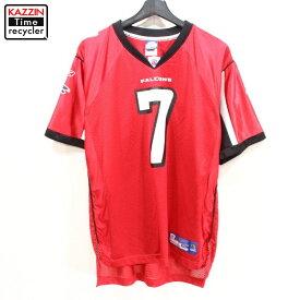 2000s NFL アトランタ・ファルコンズ マイケル・ヴィック #7 ゲーム ジャージ シャツ Reebok製 アメフト 古着 ★ 表記ボーイズ XLサイズ レッド
