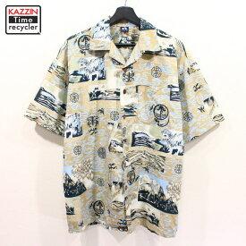 古着 HANG TEN 和柄 半袖 アロハシャツ ★ XLサイズ