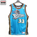 90s USA製 NBA デトロイト・ピストンズ グラント・ヒル #33 オーセンティック ゲーム ジャージ タンク Champion製 バ…