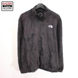 古着 ノースフェイス レディース ジップアップ フリース ジャケット アウトドア ★ 表記XLサイズ ビックサイズ 大きいサイズ ブラック
